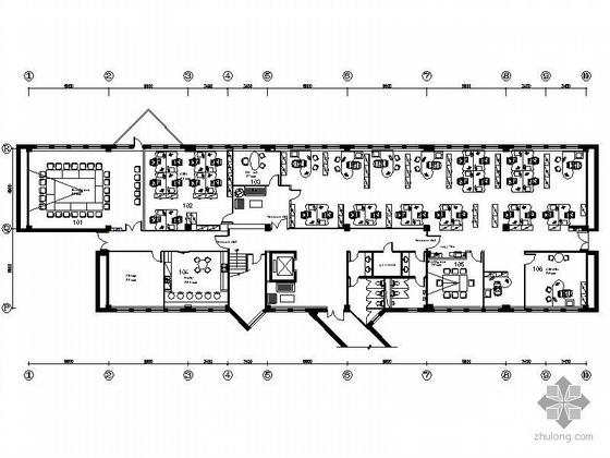 [北京]某四层小办公楼装修图