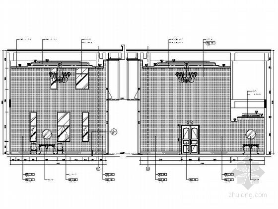 [原创]商务酒店大堂及餐饮空间装修施工图(含效果图) 立面图
