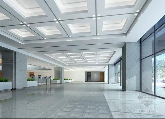[江苏]独创哲学社会科学研究机构学院新校区图书馆装修施工图(含效果)门厅效果图