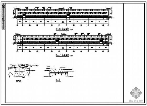 重庆某3×20米跨钢结构厂房设计图