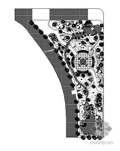 三角街头绿地设计图