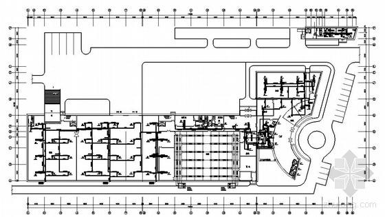 某生产车间及辅助用房中央空调平面图