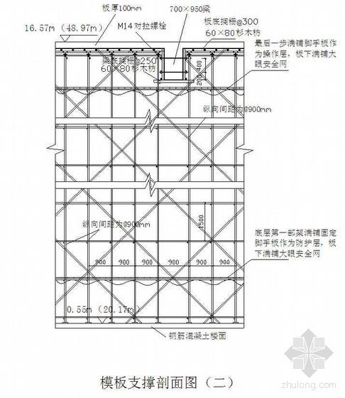 广西某高层商住楼高大模板搭拆施工方案(胶合板 计算书)