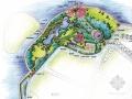 滨水休闲区景观手绘效果图