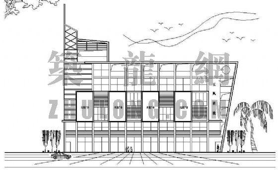 六层商业建筑平立面方案