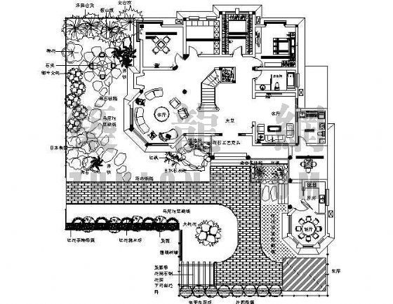 简易别墅景观绿化设计图