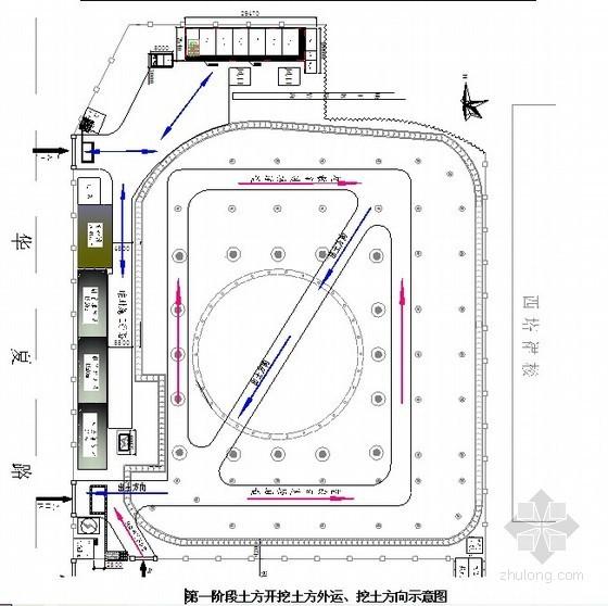 [广州]商业广场地下室工程施工方案(塔楼核心筒、逆作法)