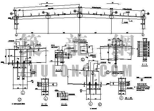 某厂房钢筋混凝土排架钢结构屋面图