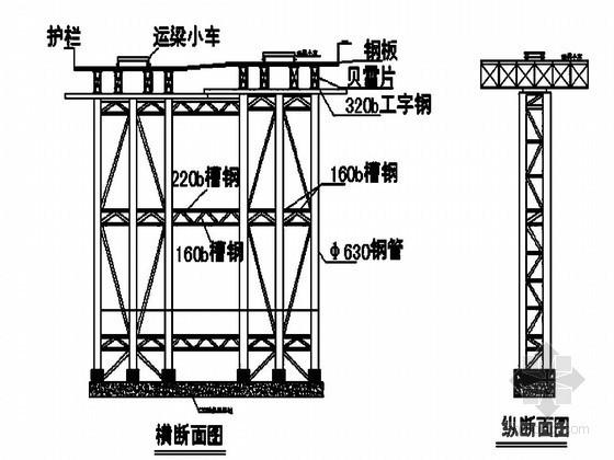钢管桁架梁拖拉架设工法(拖拉滑道)
