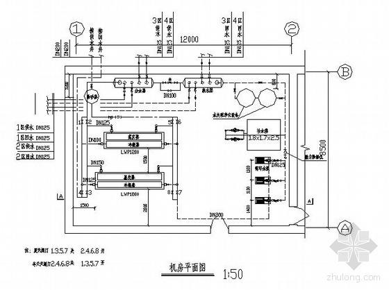 某宾馆水源热泵机房图