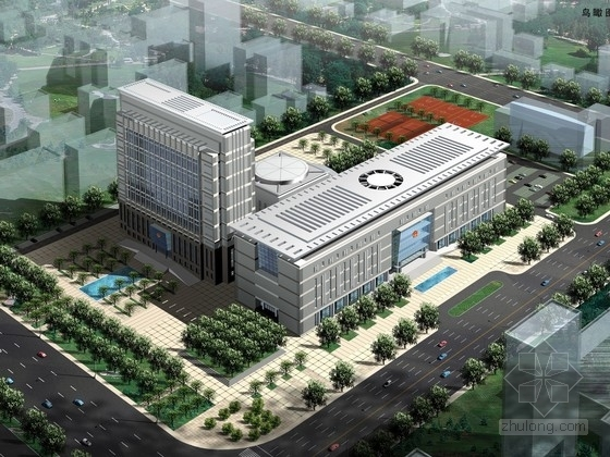 [郑州]16层行政办公楼建筑方案文本(含cad)