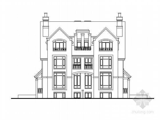 [上海]三层双拼式别墅建筑设计方案图