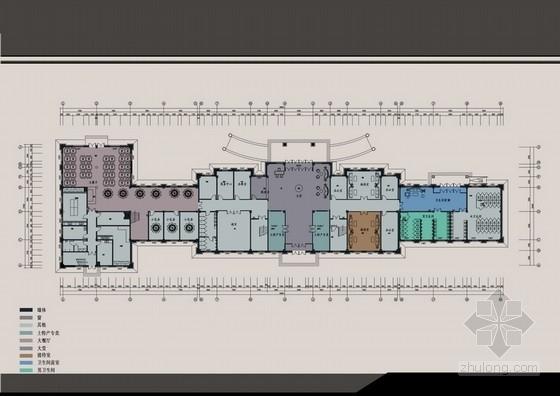 [黑龙江]精装现代风格度假服务区综合楼室内设计方案