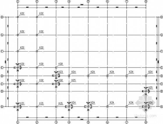 压风机房及消防材料库结构施工图