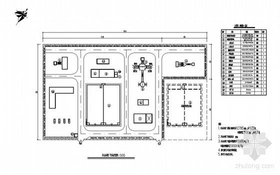 某污水处理厂平面图及高程图