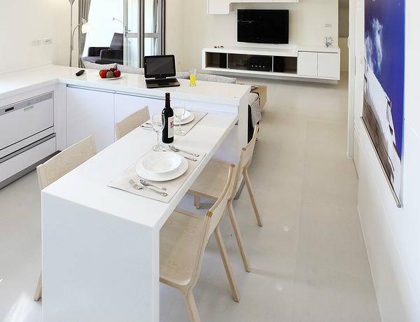 95平简约二居客厅背景墙电视墙设计效果图_4