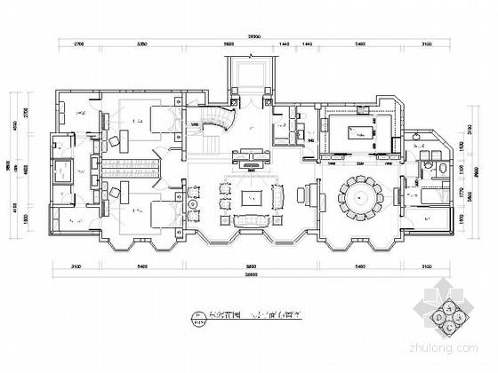 [河北]经典奢华欧式风格三层别墅室内设计装修施工图(图纸细致,力荐!)