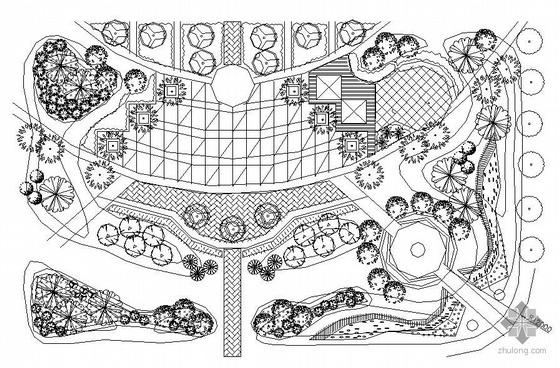 某街头小广场景观施工图