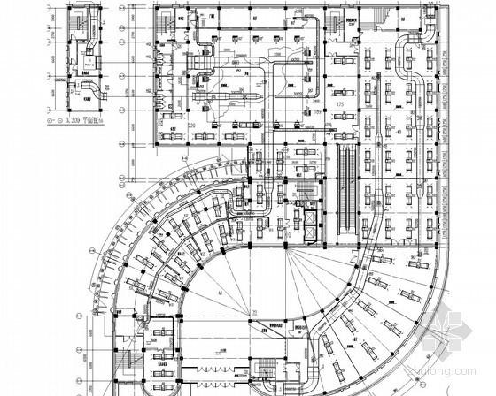 [黑龙江]二类办公楼空调采暖通风及防排烟系统设计施工图