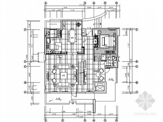 [北京]独栋海景现代简欧三层别墅室内装修图(含效果)