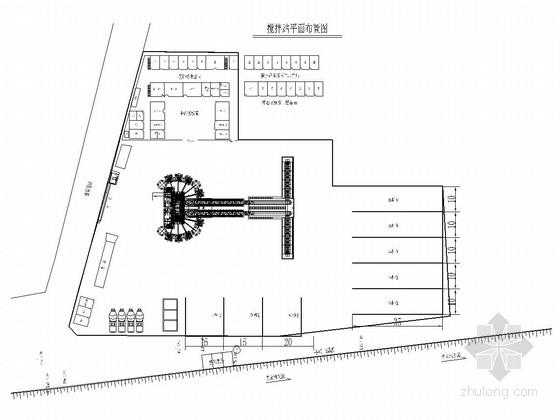 铁路工程搅拌站设计施工图(18张)