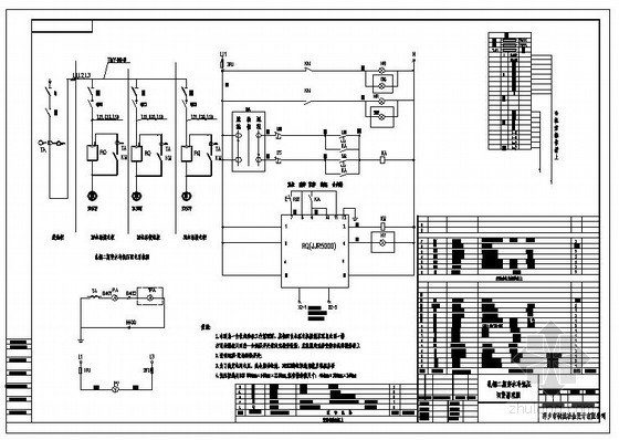 电气工程软启动器控制原理图