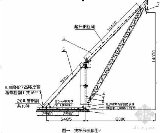 内爬式塔式起重机屋面解体施工工法