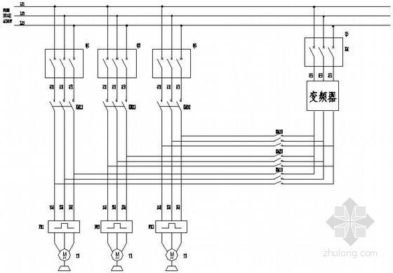 PLC恒压供水系统电气原理图