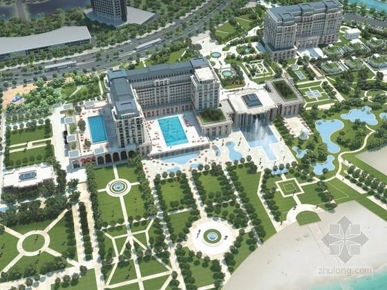 [福建]欧式风格星级酒店规划规划及单体设计方案文本