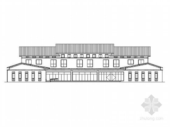 [江苏]2层江南风格客运中心建筑施工图(含效果图)