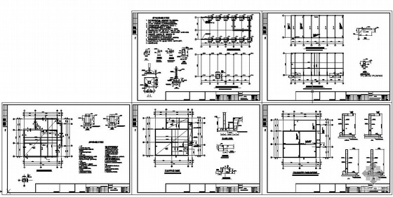某框架配电房结构设计图
