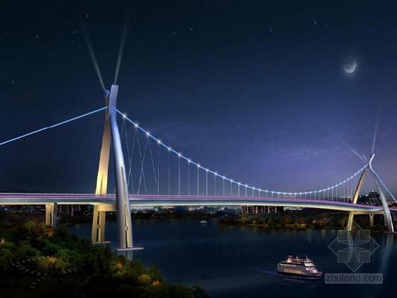 [广西]主跨410m三跨连续钢箱梁悬索桥悬索系统结构施工方案91页