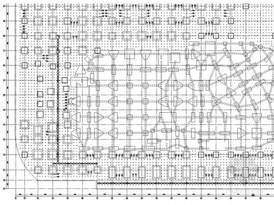 [福建]地下二层框架结构商业配套建筑结构施工图