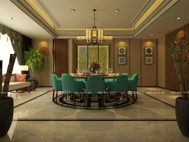 品筑出新作啦!内蒙古·兴安盟乌塔其银行室内设计效果图-37接待室(一)餐厅.jpg