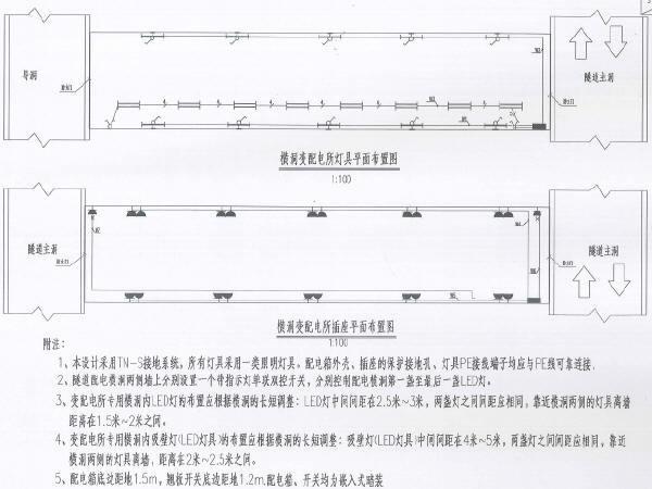 [西藏]山岭重丘区二级公路隧道机电工程设计图纸255张(供电通风照明消防监控)
