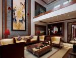 中式别墅客餐厅3D模型下载