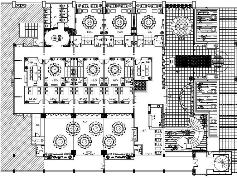 [安徽]高档豪华海鲜酒家室内设计施工图
