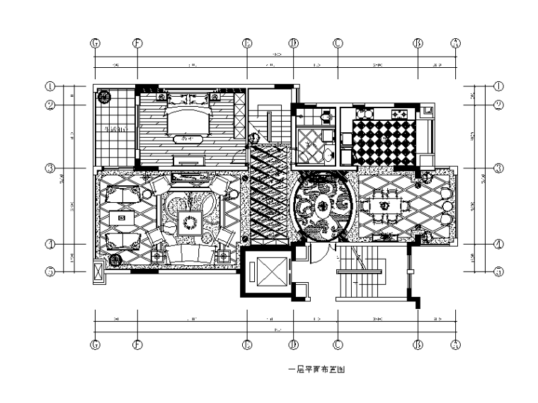 欧式风格跃层住宅设计CAD施工图(含效果图)