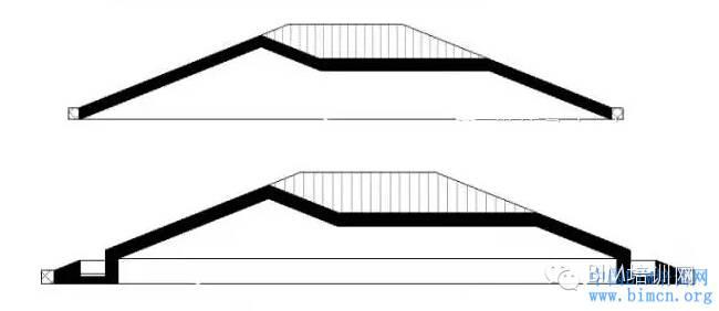 BIM软件小技巧Revit中坡屋顶檐沟做法_1