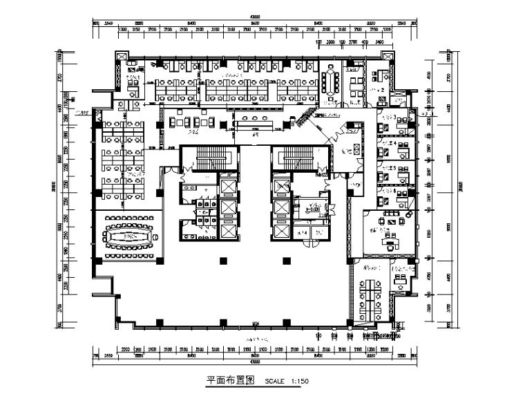 某药业集团现代风格办公楼设计CAD施工图(含效果图)