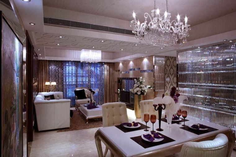 101平米三居室欧美风格设计案例
