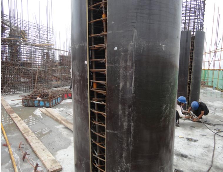 木质圆柱模板拼接
