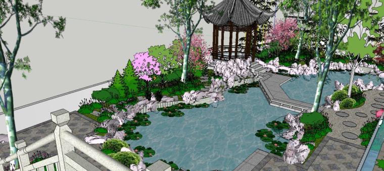 座凳•座椅,景墙•围墙,水景庭院设计su模型_7