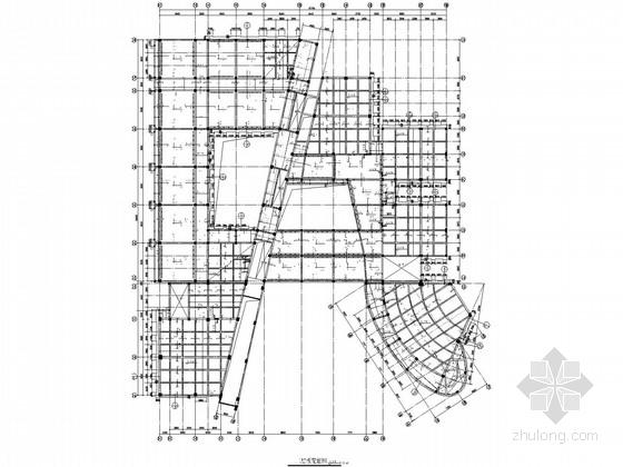 局部五层框架教学楼结构施工图