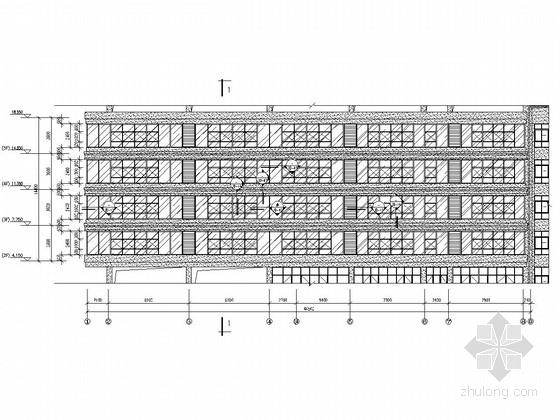 [浙江]五层办公楼玻璃幕墙工程施工图(含幕墙计算书 节能计算书)