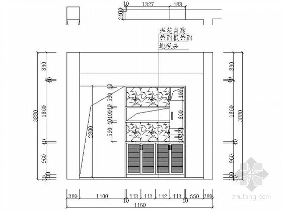 现代高档复式样板间装修施工图(含效果)立面图