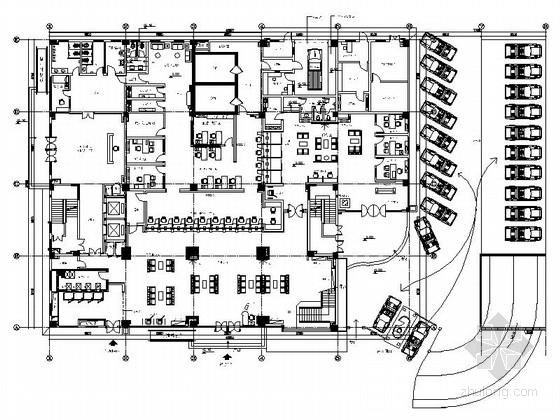 [东莞]商业股份制金融中心现代业务大楼装修施工图
