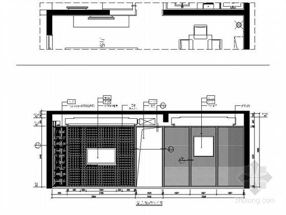 [福州]淡雅中式风格三居室样板间装修图(含实景) 立面