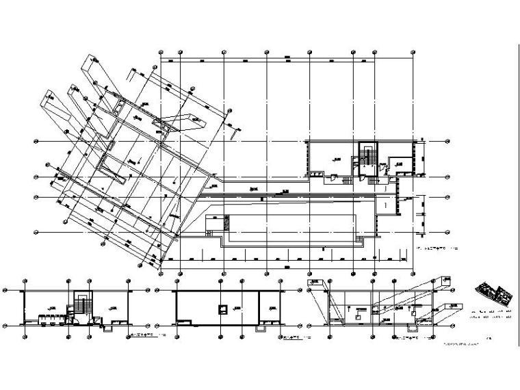 [广东]现代风格高层酒店建筑设计施工图平面图