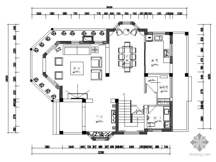 二层度假别墅室内装修图_1